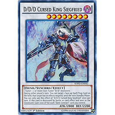 Yu-Gi-Oh D/D/D Cursed King Siegfried - SDPD-EN042 - Super Rare - 1st Edition - Pendulum Domination Structure Deck: Toys & Games