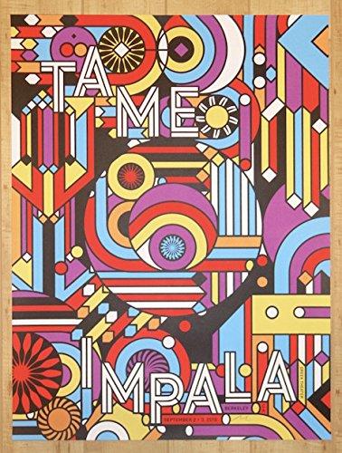 Silkscreen Concert Poster - 2016 Tame Impala - Berkeley I Silkscreen Concert Poster by Nate Duval