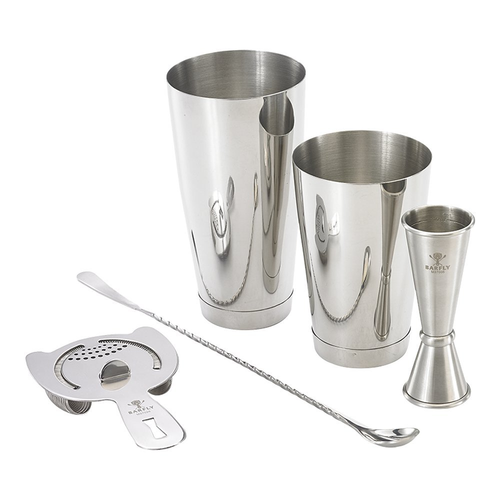 Barfly M37101 Cocktail Set, 4-Piece Basics, Stainless