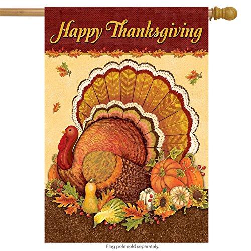 Thanksgiving Turkey House Flag Holiday Turkey Day 28