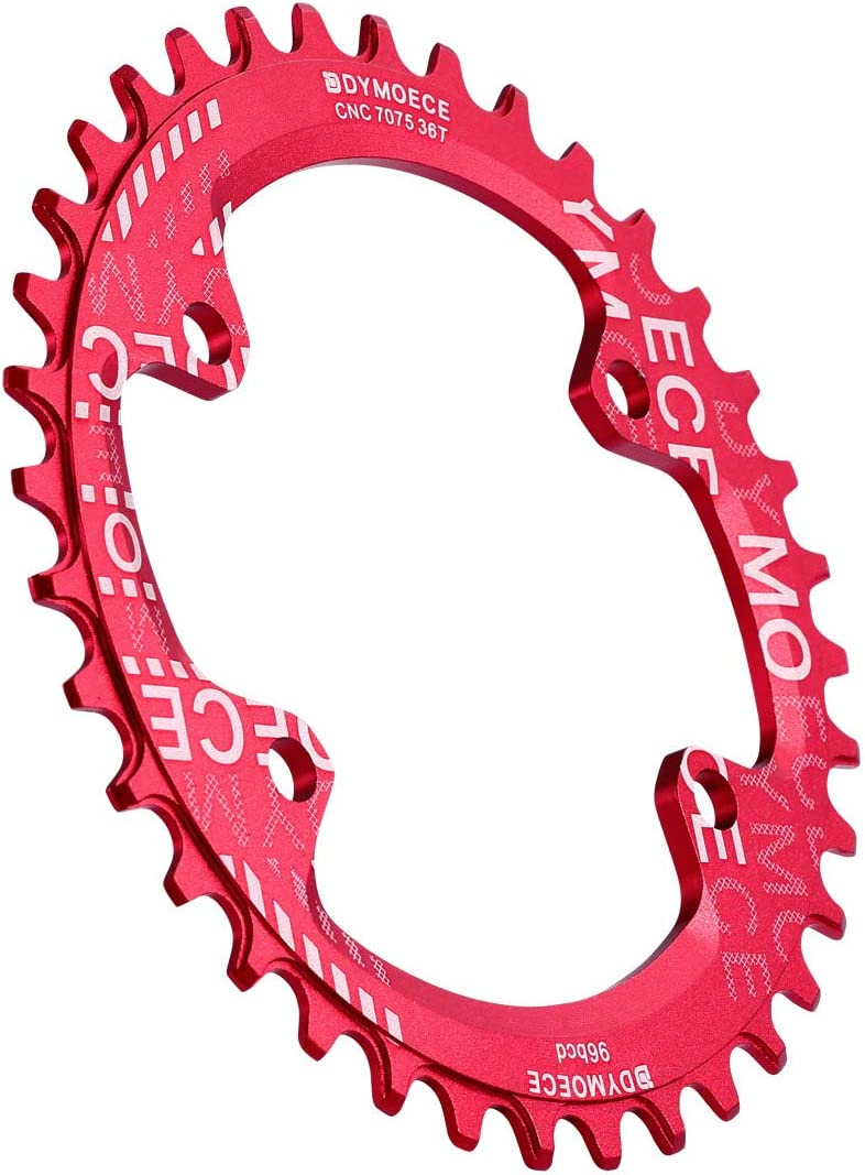 Dymoece Narrow Wide Chainring 96BCD Single Speed 32T 34T 36T 38T Round for Shimano M6000 M7000 M8000 M9000