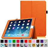 Fintie iPad Air 2 Case [Corner Protection] - Slim Fit Leather Folio Case with Smart Cover Auto Sleep / Wake Feature for Apple iPad Air 2 (iPad 6) 2014 Model, Orange
