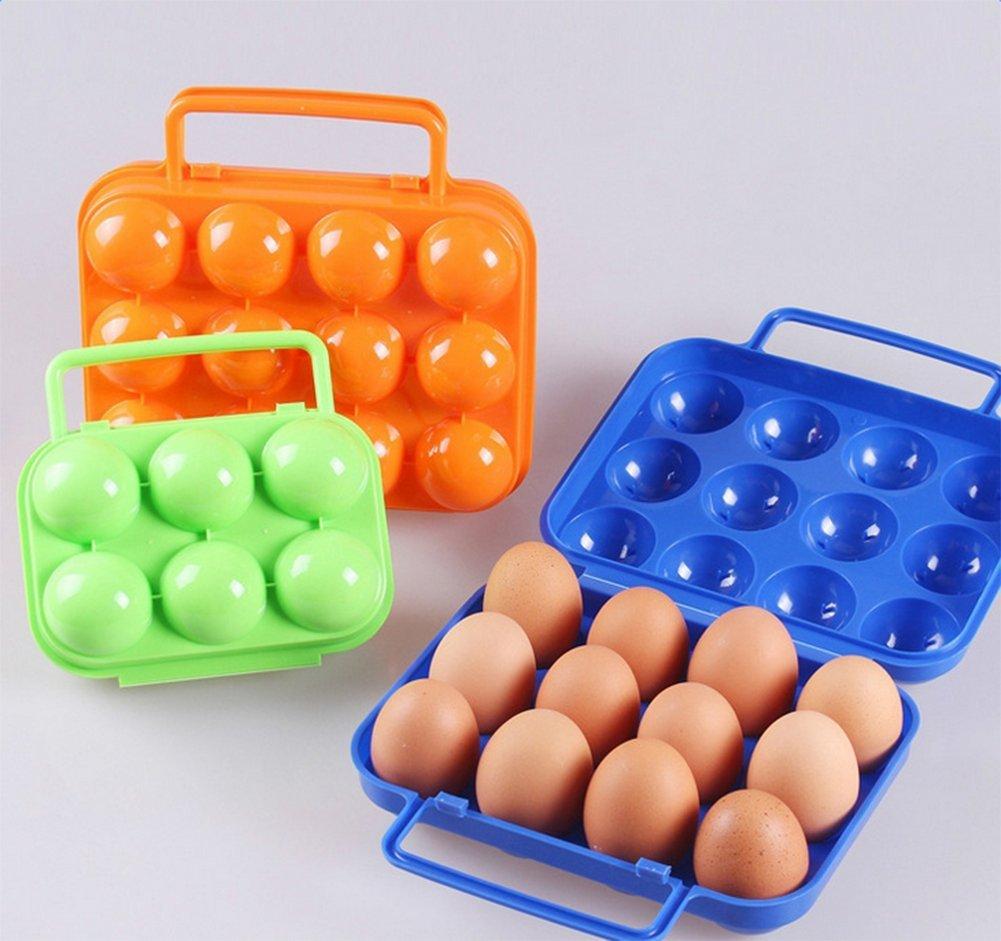 weimay Bo/îte /à /œufs portable pliable bo/îte /à /œuf en plastique 12/fentes de /œuf pour la cuisine en plein air pique-nique oeufs Conteneur Plateau doeuf
