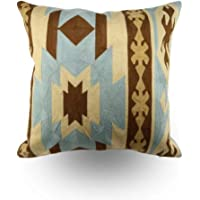 Embroidered Cushion Cover Pillow Case Linen Cotton Sofa Cushion Cover Home Decor,Hand Made (Size 45×45cm) (Multicolor 1)