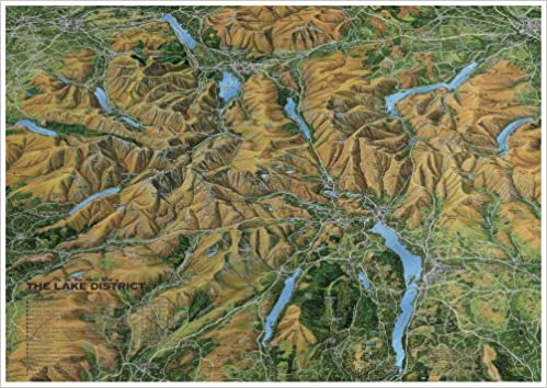 The Fir Tree Aerial Map of the Lake District A2 594 mm x 420 mm