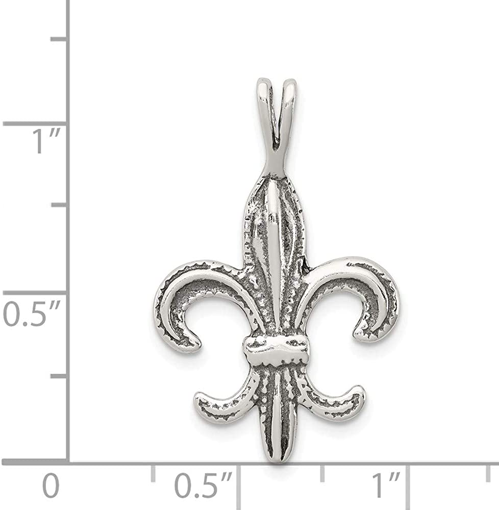 925 Sterling Silver Fleur De Lis Charm and Pendant