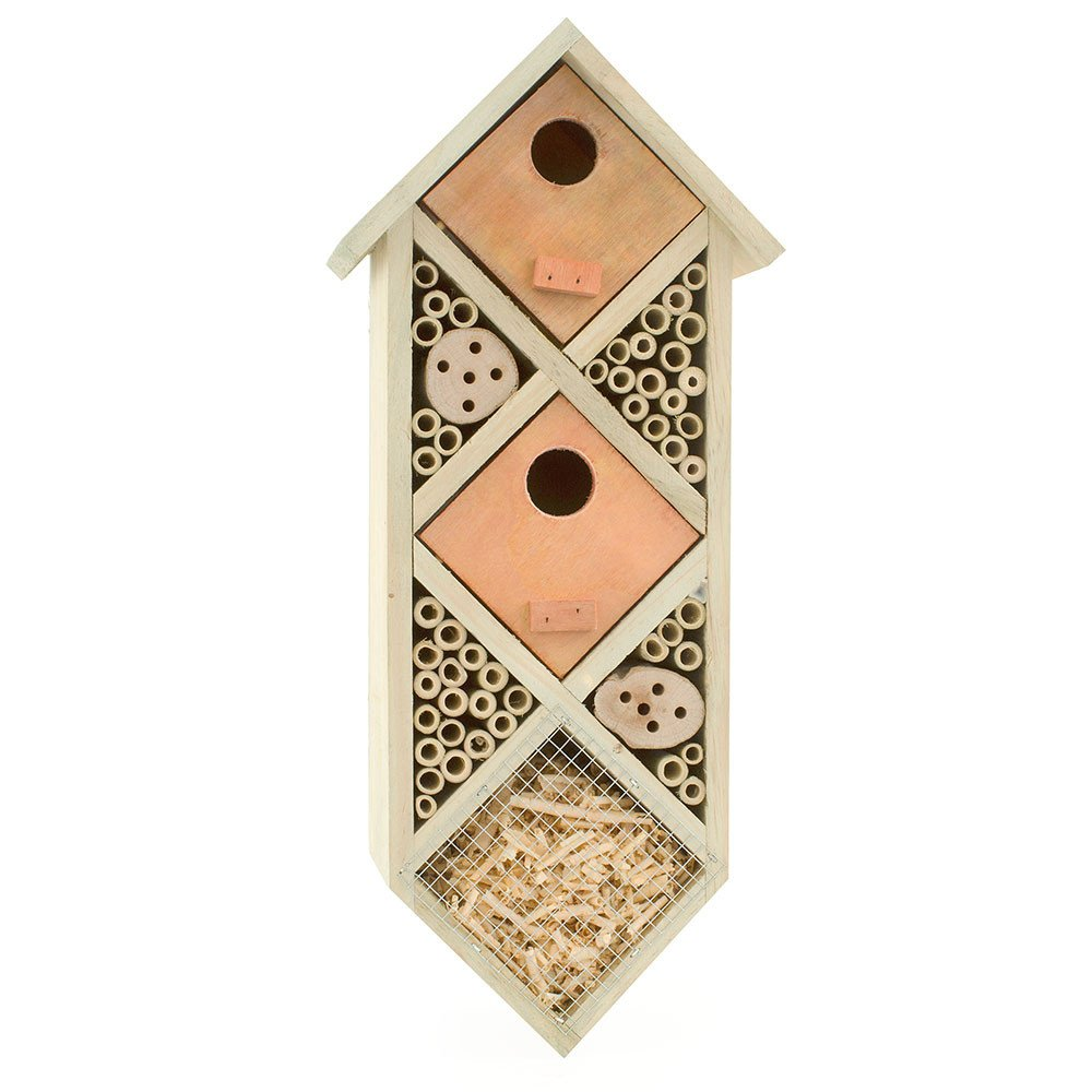 bambeco Diamondback Bee House - 7.25 W x 4.75 D x 16.5 H by bambeco