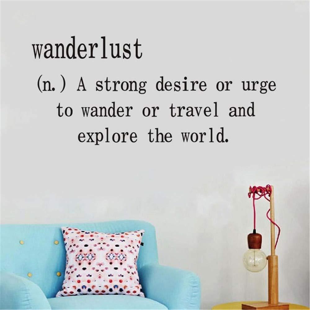 haotong11 Wanderlust A Strong Desire Or Urge Pegatinas de Pared ...