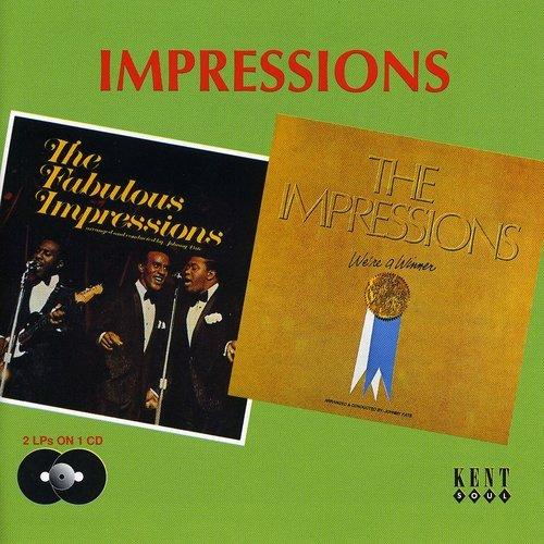 CD : The Impressions - Fabulous Impressions /  We're A Winner (United Kingdom - Import)