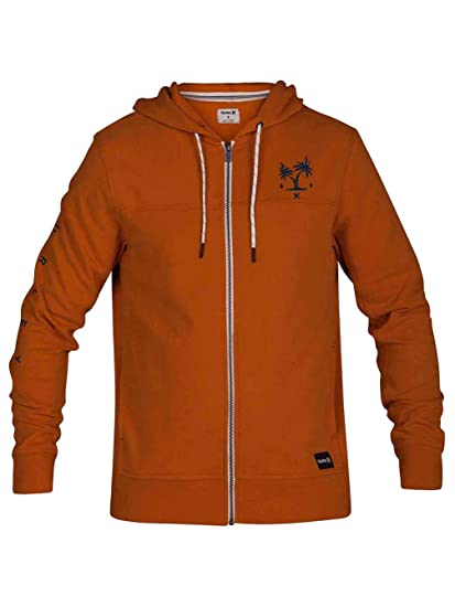 Hurley M Atlas Boxed Full Zip Suéter, Hombre, Amarillo (Monarch), XXL