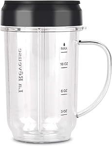 16 oz BPA Free Portable Mug with Travel Lid Fits for La Reveuse Blender LARB1811