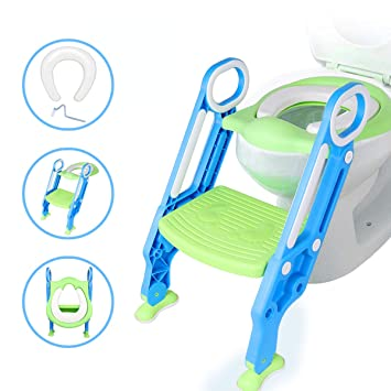 Marvelous Amazon Com Potty Seat With Ladder Toilet Training Seat Gmtry Best Dining Table And Chair Ideas Images Gmtryco
