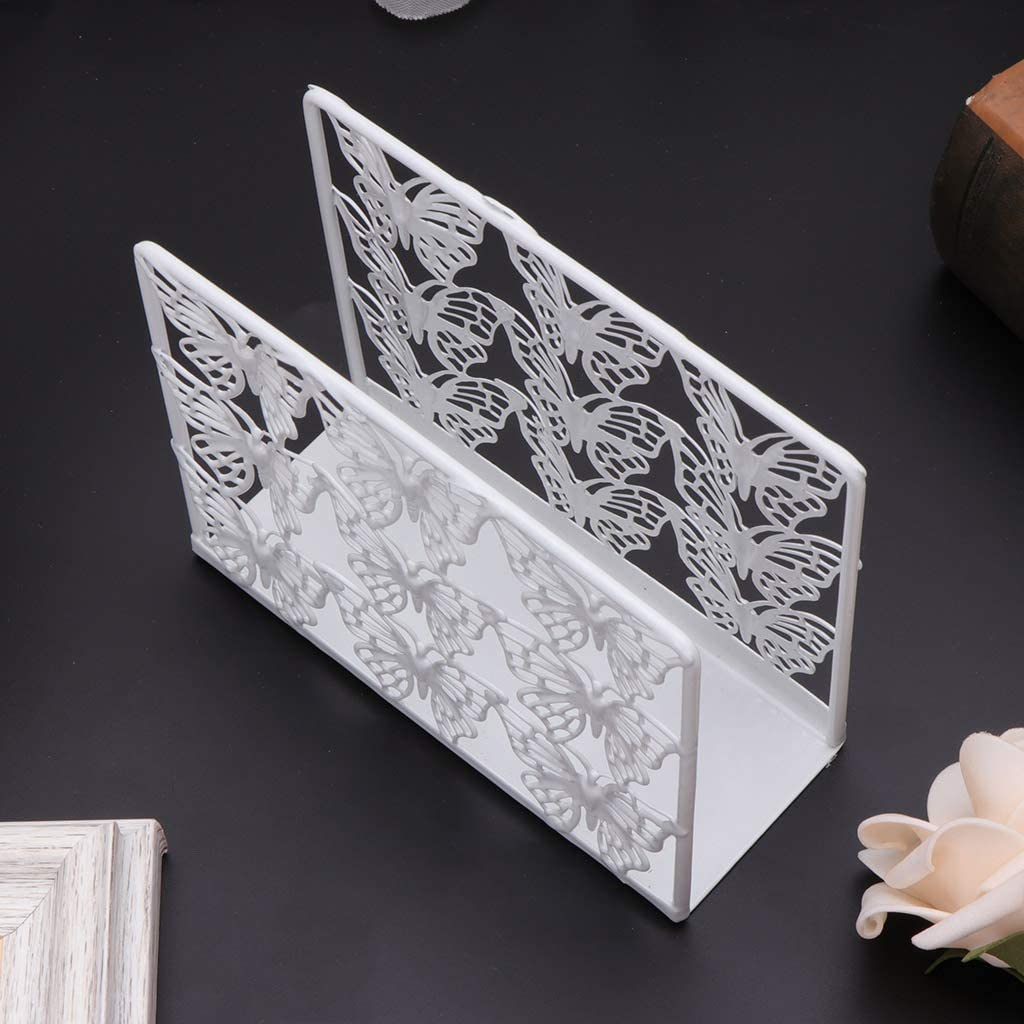 FafalloagrronMetal Servilletero dispensador de papel pa/ñuelo decoraci/ón de la mesa del hogar 4.92x1.77x3.94in D