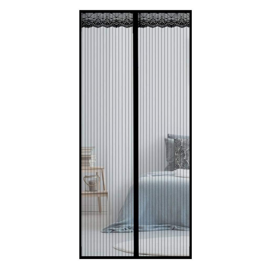 -Blanc Moustiquaire Porte Magn/étique Moustiquaire /Ét/é Velcro Magn/étique Chambre Salon Cuisine Anti-moustique Rideau Porte-90x210Cm 35x83Pouces