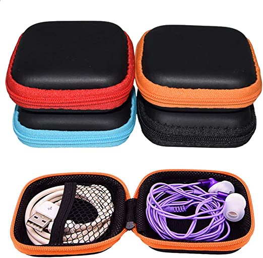Estuche de Auriculares, INTVN Casos de Earbud Mini Caja de Almacenamiento EVA para Bluetooth Auricular, Cable USB, Tarjeta de memoria SD o cualquier otro objeto pequeno, 4 Piezas: Amazon.es: Hogar