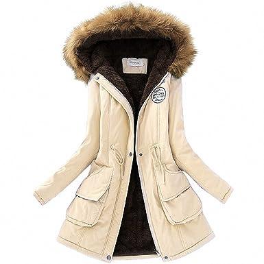 c6f098cc3 Winter Jacket Women Faux Fur Collar Womens Coats Long Down Parka ...