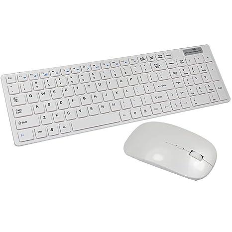STONG Wireless Combo Teclado Teclado y Ratón Inalambrico Multimedia para Mac Dell Asus HP Lenovo Samsung