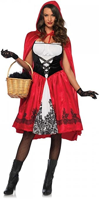 shoperama Classic Red Riding Hood para Disfraz de Mujer con Cape ...
