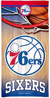 WinCraft Philadelphia 76ers Beach Towel with Premium Spectra Graphics 30x60 inches