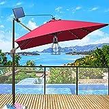 Kyson Outdoor Solar Powered Shed Light Pendant Lamp Vintage Hanging Edison Bulb Barn Light for Garden Porch Umbrella