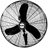 Air King 9075 30-Inch Industrial Grade Oscillating Wall Mount Fan, 1/3-Horsepower, Black Finish