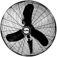 Air King 9075 30-Inch Industrial Grade Oscillating Wall Mount Fan, 1/3-Horsepower, Black Finish