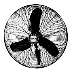 Air King 9075 30-inch Industrial Grade Oscillating Wall Mount Fan, 13-horsepower, Black Finish