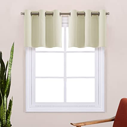 Beau Room Darkening Window Valances For Window   Window Treatment Kitchen  Grommet Short Curtain Tiers For Any