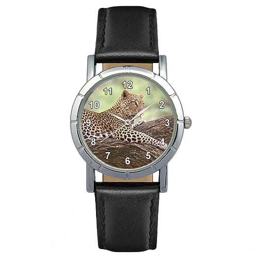 Timest - Jaguar - Reloj para Mujer con Correa de Cuero negro Analógico Cuarzo SA1456: Amazon.es: Relojes