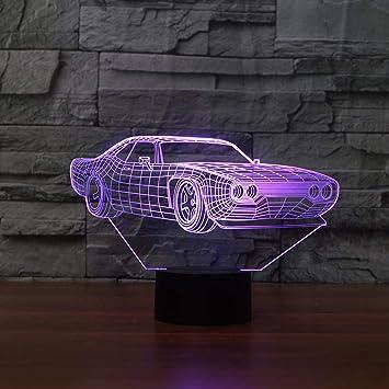 NDSLJSL 3D Led USB Luz De Noche Lámpara De Mesa Coche Modelado Luz ...