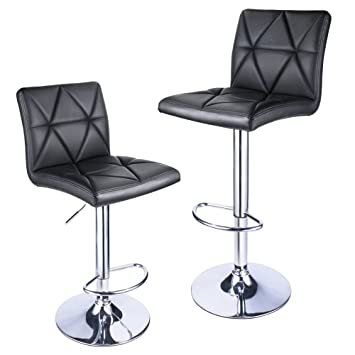 Leader Accessories Bar StoolBlack Modern Hydraulic Diagonal Line Adjustable Bar Stools with back  sc 1 st  Amazon.com & Amazon.com: Leader Accessories Bar StoolBlack Modern Hydraulic ... islam-shia.org