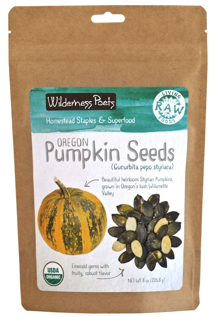 Wilderness Poets Oregon Grown Pumpkin Seeds - Organic, Heirloom, Raw (800 Ounce - 50 Pound) by Wilderness Poets