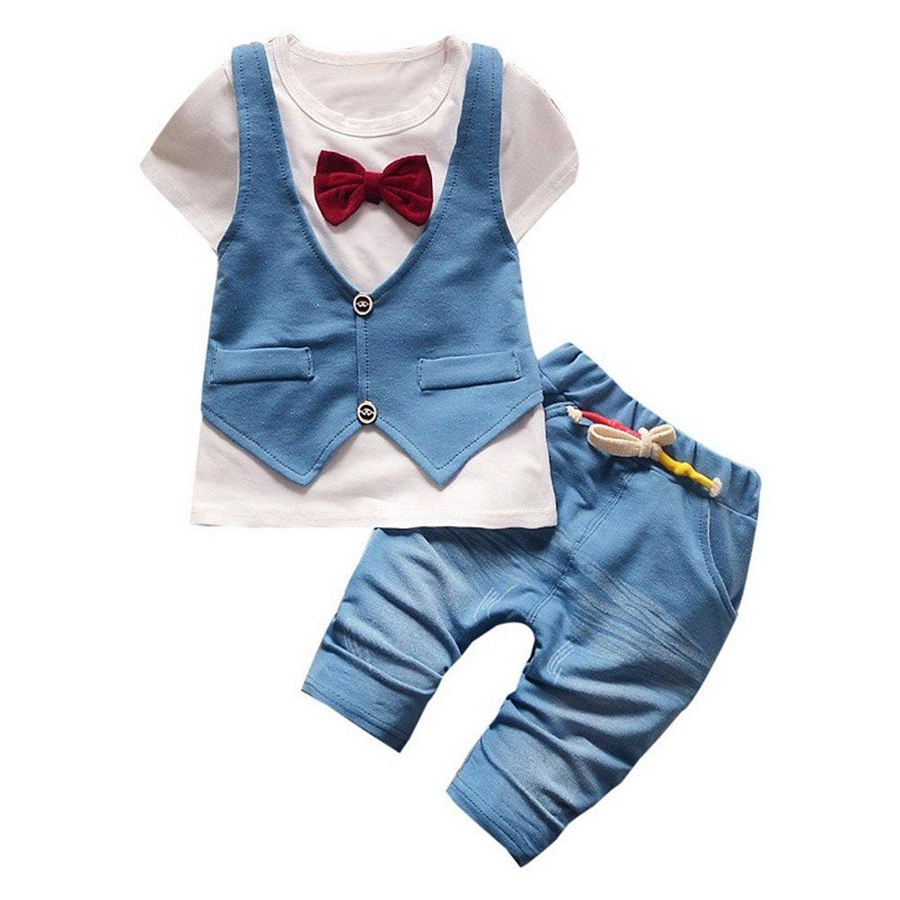 ARAUS Completini e Coordinati Da Bambini Neonato Jeans Giacca T-Shirt Cime + Pantaloni Gentiluomo Abitini 2 Pezzi 6520P10