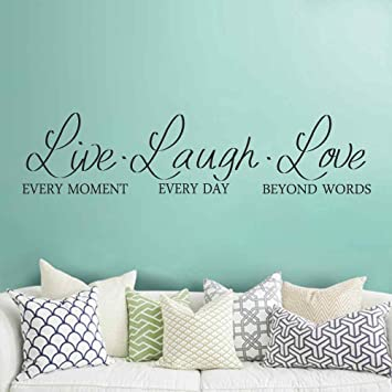 BATTOO Live Laugh Love Wall Decal   Live Laugh Love Wall Decor    Inspirational Wall Decals