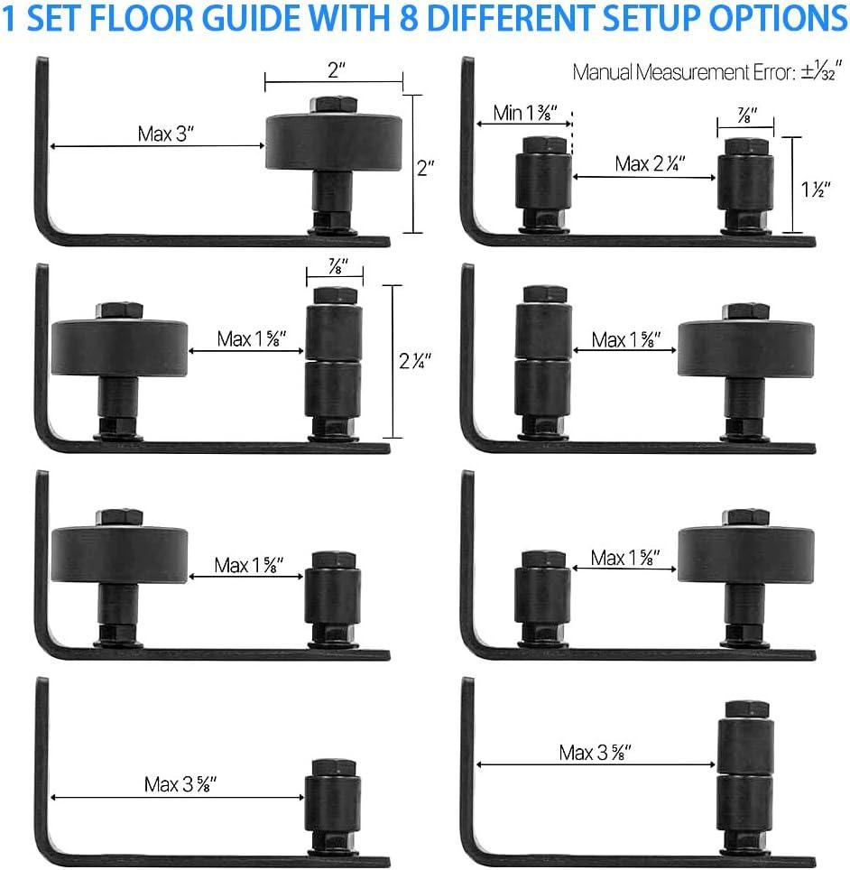 8/possible variations sadapter /à tous les portes de Grange Grange Porte Guide au sol rester Roller support mural r/églable Guide support inf/érieur de mat/ériel
