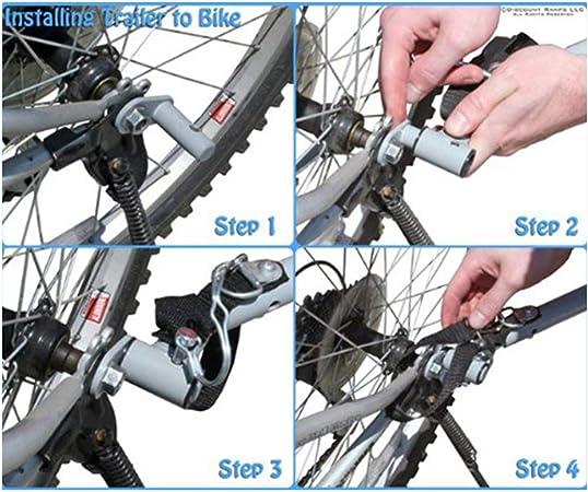 iplusmile Fahrradstahlkupplungskupplung Fahrradanh/ängerkupplung Winkelkupplung f/ür Fahrradfahrradbefestigung