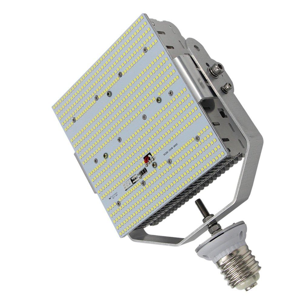 Caree-LED 100W LED Parking Lot Retrofit Lights185V-528Vac 347v 480 Volt Input Mogul Screw Base E39 for Gas Station 6000K Daylight White Replace 400Watt MH/HPS Shoebox Fixture,Floodlight