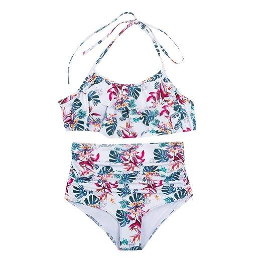 35935f25b5 Amazon.com: Limsea Mother and Daughter Swimwear Family Matching Swimsuit  Girls Swimwear Print Sexy One Piece Swimsuit: Clothing