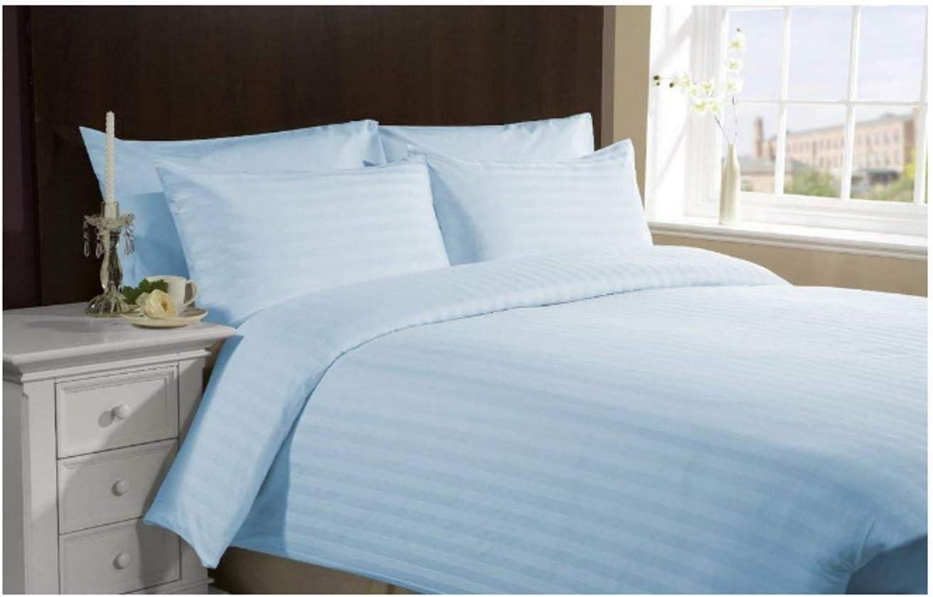 Knight /& Kavalier qualit/à Export Traspirante Righe Blu Adatto per materassi di 30 cm di profondit/à Set di Lenzuola per Letto Queen Size Facile da Montare 100/% Cotone Egiziano 500 TC 6 Pezzi