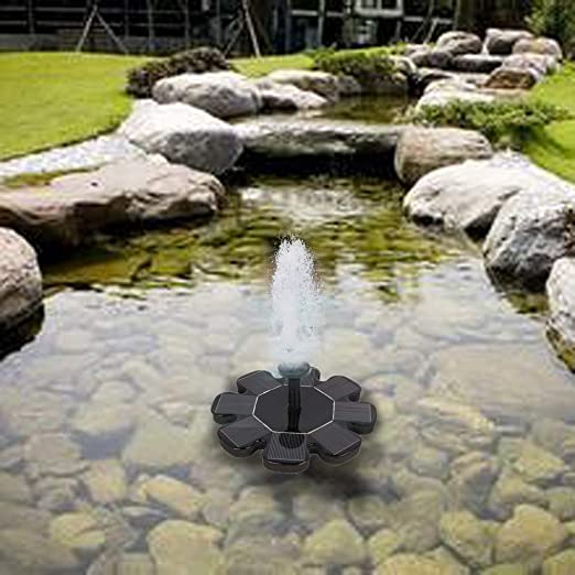 N-A Outdoor Solar Powered Bird Bath Water Fountain Pump Waterfalls For Pool Garden Aquarium Decoration Watering Submersible Pumps: Amazon.es: Jardín