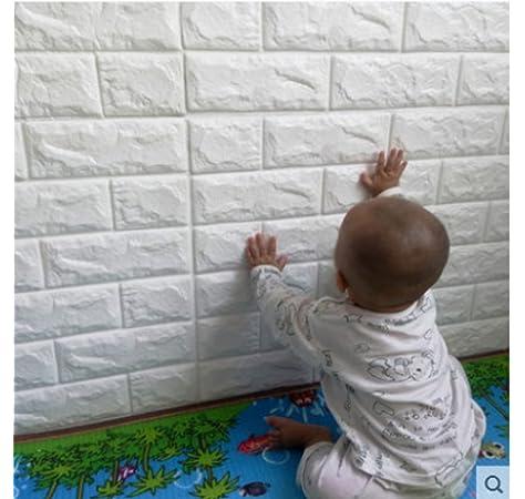 dormitorio TV Pared 30.32inch x 27.56inch 3D ladrillo pantalla bar papel pintado,desmontables ladrillo pegatinas de pared aislamiento ac/ústico auto adhesivo del papel pintado for la sala de estar