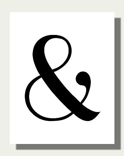 Amazon.com: Black & White Ampersand Art Print - Typography Art Print ...