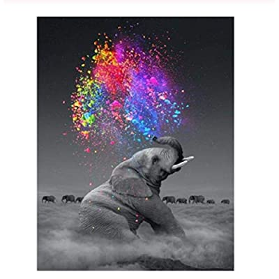 Classic Jigsaw Puzzle 1000 Pieces Adult Puzzle Wooden Puzzle Colorful Elephant DIY Modern Wall Art Picture Modern Art Home Decoration Creative Gifts 75X50Cm: Toys & Games