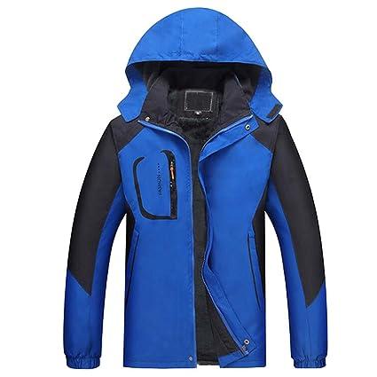 Fuyingda Snowboard Sport Impermeable Traje de esquí más Grueso Hombres Invierno cálido Escalada Senderismo Abrigos (