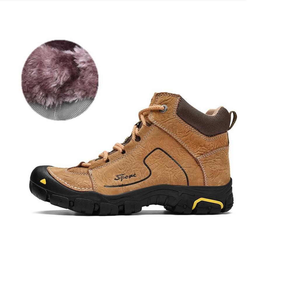 Adidasyer Männer Schwacher Anstieg Stiefel Wasserdicht und Rutschfest Echtleder Schnüren Warm halten Leicht zum Winter Draussen Reisen Trekking Wandern Klettern Schuhe