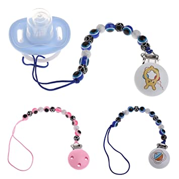 Amazon.com: BCHZ ojo azul bebé Niños Clip para chupete ...