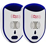 IDEALUX Ultrasonic Pest Repeller 2 Pack - Humane Mice Control - Electronic Insect Repellent - Non Toxic Indoor Pest Control - Easiest Way to Reject Rodent Bed Bug Mosquito Fly Cockroach Spider Rat