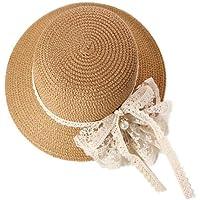FENICAL Niñas niños Sombrero de Paja Protección Solar
