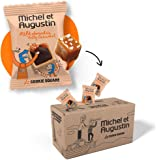 Michel et Augustin Chocolate French Cookie Mini Squares | Milk Chocolate Caramel Pure Butter Shortbread | Gourmet Snack Dessert Gift Baskets for Father's Day | 180 Count