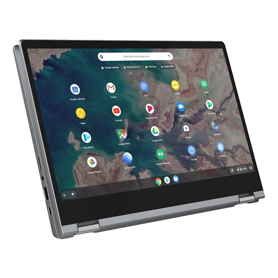 "Lenovo Chromebook Flex 5 13"" Laptop, FHD (1920 x 1080) Touch Display, Intel Core i3-10110U Processor, 4GB DDR4 Onboard RAM, 64GB eMMC, Intel Integrated Graphics, Chrome OS, 82B80006UX, Graphite Grey"